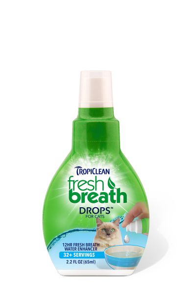 TropiClean Fresh Breath Drops for Cats, 2.2 oz.