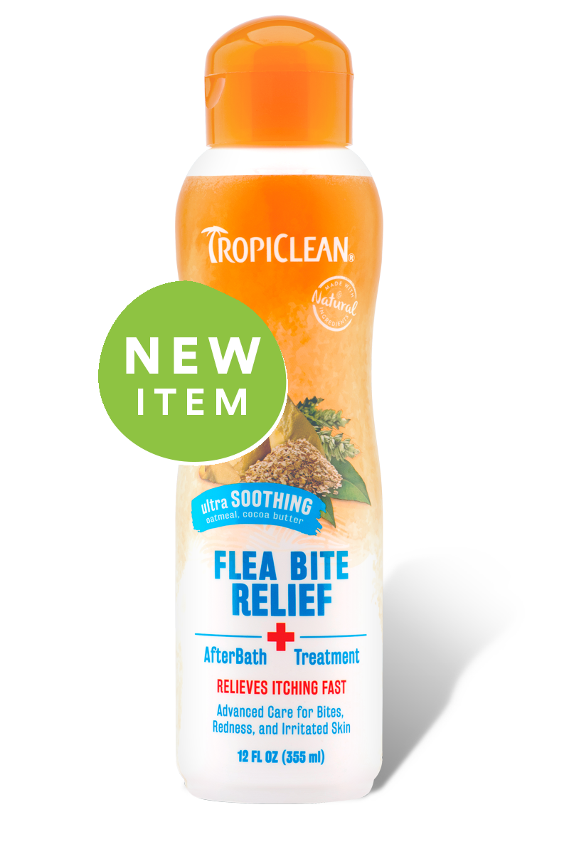 TropiClean Flea Bite Relief AfterBath Treatment, 12 oz.