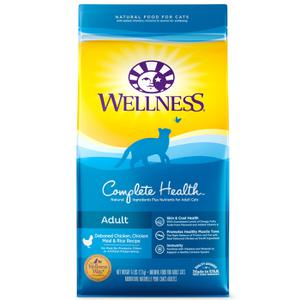 Wellness Complete Health Deboned Chicken & Chicken Meal Natural Dry Cat Food, 6 lb Bag