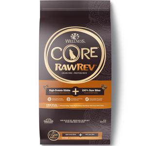 Wellness CORE Grain Free RawRev Original Deboned Turkey, Turkey Meal & Chicken, with Freeze Dried Turkey Natural Dry Dog Food, 20 lb