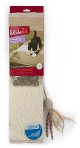 Petlinks Scratch & Play Mat Linen Cat Scratcher