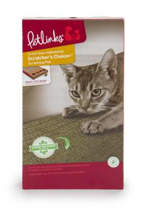 Petlinks Scratcher's Choice+ Corrugate Cat Scratcher with Infused Catnip and toy
