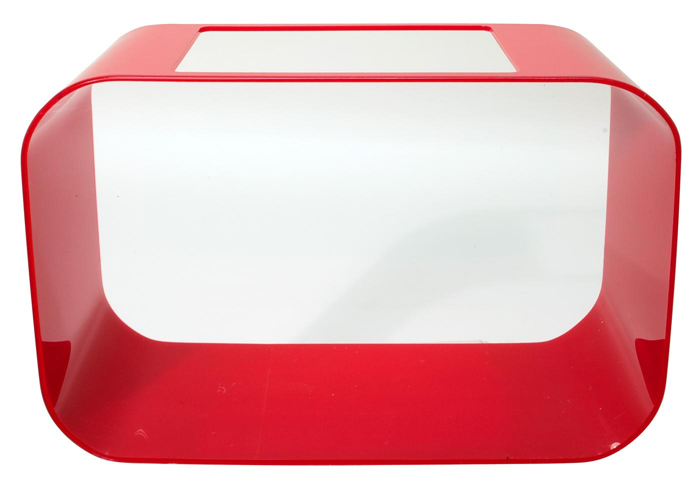 Betta House/Rectangular/Red, 2 gal
