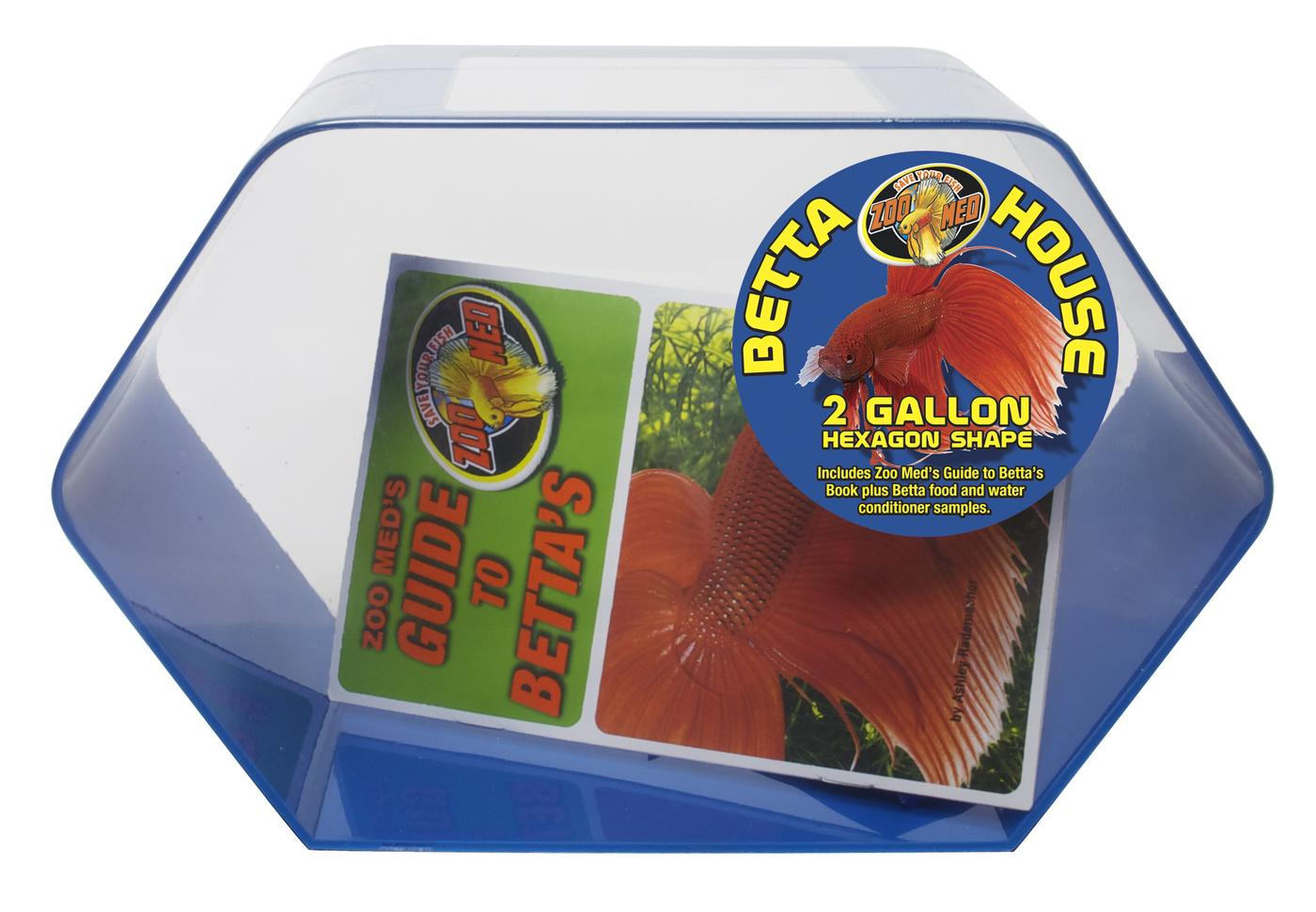 Betta House/Hexagon/Blue, 2 gal