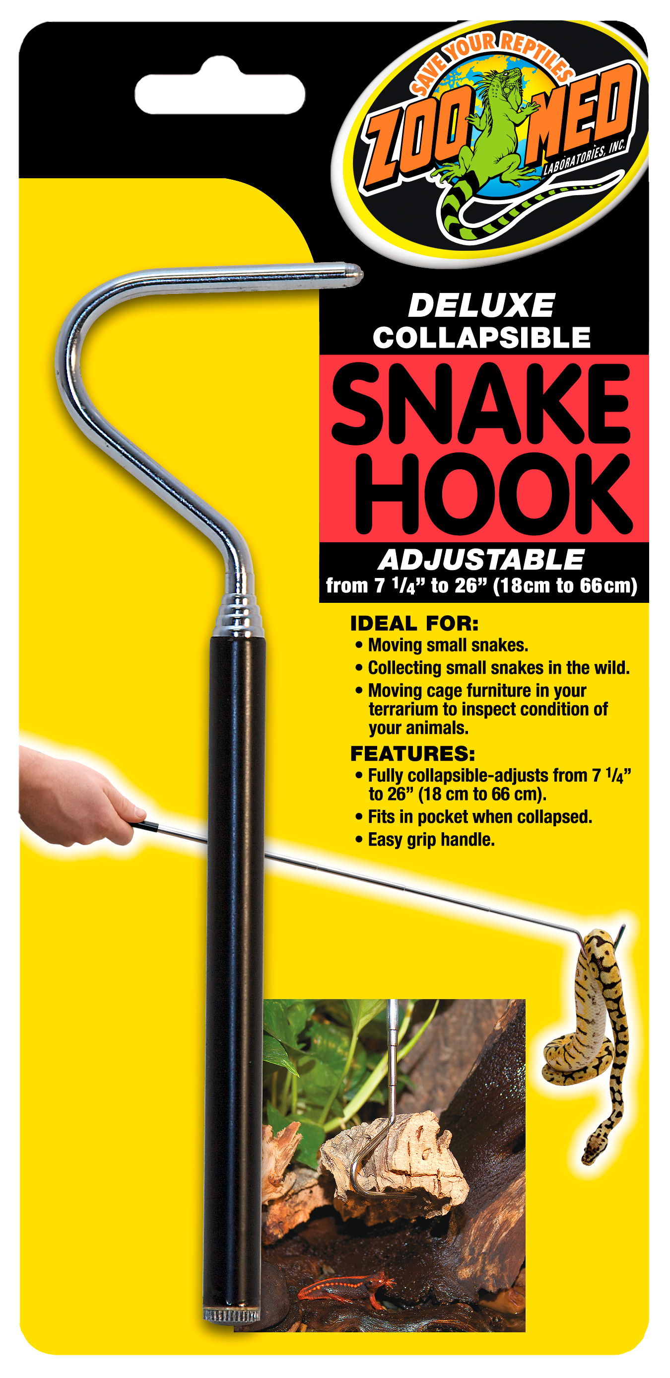 Deluxe Collapsible Snake Hook, 7-26""